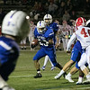 Leominster High School football played Saint John's on Friday night at Doyle Field in Leominster. LHS's #26 Justus-Tyler Reynolds with ball. SENTINEL & ENTERPRISE/JOHN LOVE