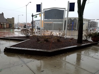 City of St. Joseph, Broad St. and Main St. Large Garden , No Snow - Winter 2017/2018 , Before