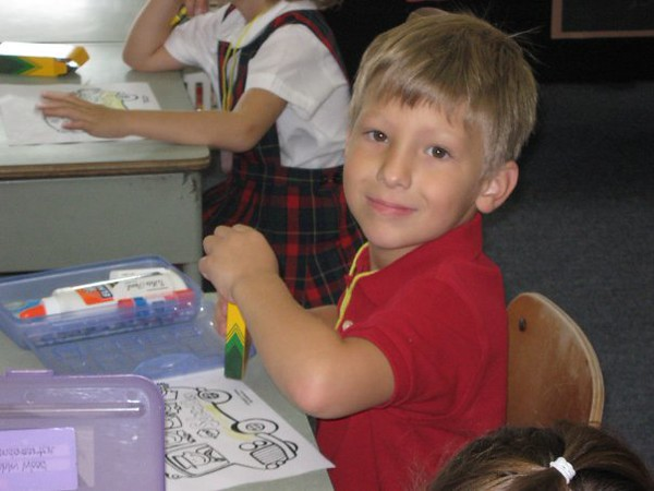 2008 – First day of Kindergarten for Dante Currie.