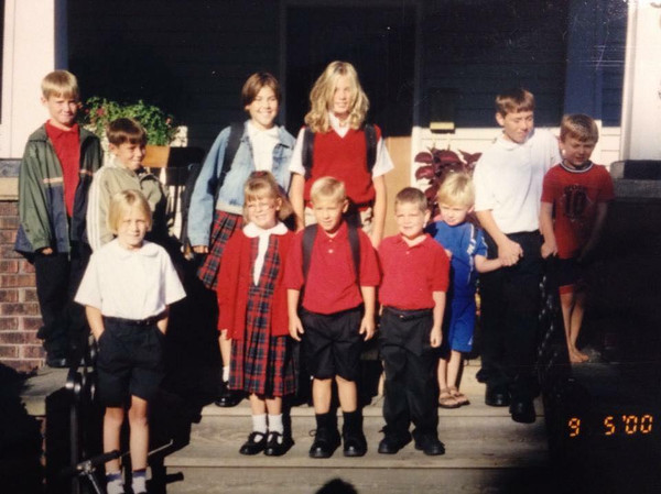 2000 – First day of school for the kids on Wengler Avenue, Sharon. Submitted by Anne Bateman Carenbauer.