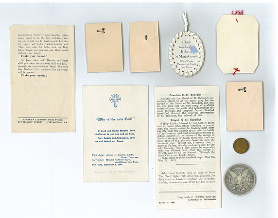 CONTENTS OF 1955 TIME CAPSULE