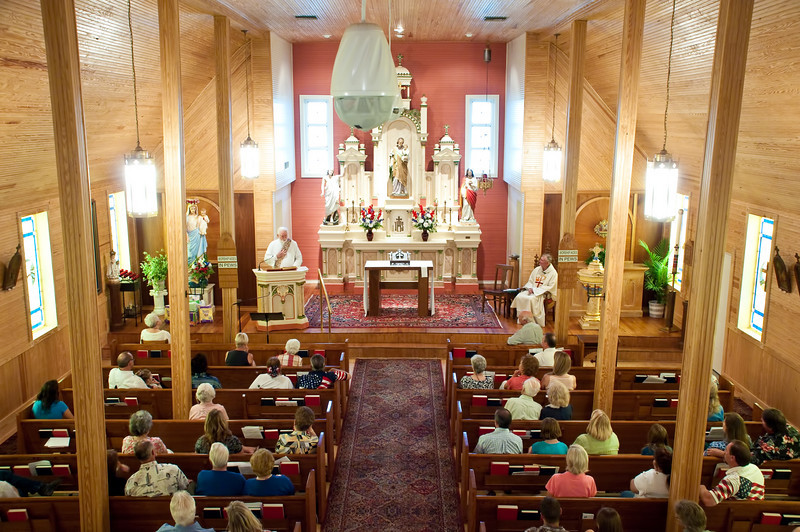 Special bazaar Mass in St. Joseph's beautiful old church