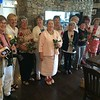 From left, Jeannine Booth of Pelham, N.H., Dacey Zouzas and Leslie Morin of Lowell, Carole Morin, Cecile Frechette, Jeannine Booth, Christine Giarrusso, Eileen Brochu, Leslie Morin, Lorraine Christedes, Maureen Novelline, Mary Ellen Howcroft, and Sun correspondent Prudence Brighton