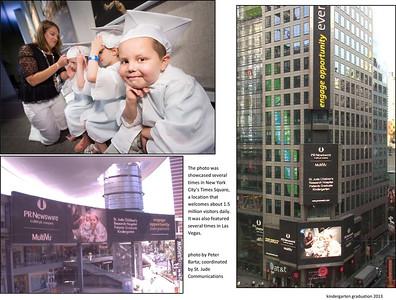 Times Square photo - kindergarten graduation