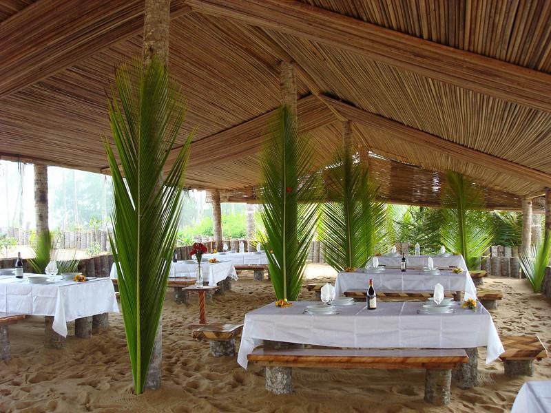 Réception à la plage privée sainte Julienne.