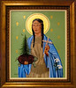 Painting of St. Kateri Tekakwitha donated by the artist, Lobreglio, in memory of the Lobriglio and Turco families, 1999. Hangs in the Narthex of the church in Lagrangeville, NY.