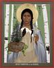"Icon of Kateri Tekakwitha by artist Br. Robert Lentz, OFM. Artist's narrative:<br /> <a href=""https://www.trinitystores.com/store/art-image/st-kateri-tekakwitha-iroquois-1656-1680"">https://www.trinitystores.com/store/art-image/st-kateri-tekakwitha-iroquois-1656-1680</a>"