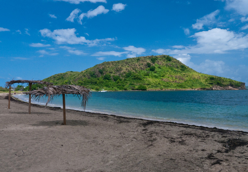 Reggae Beach in the West Indies island St. Kitts