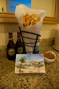 Our welcome drinks and yummy chips and salsa
