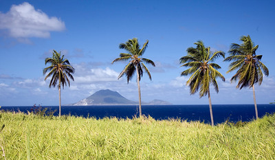 St. Kitts, West Indies.  Looking at Island of St. Eustatius.