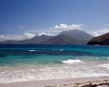 Mosquito Bay.  St. Kitts, West Indies.  Looking at the Island of Nevis.