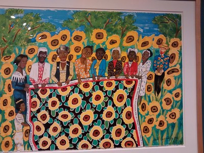 The Sunflower Quilting Bee at Aries, 1996 (Faith Ringgold, American b. 1930
