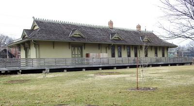 The restored Katy Depot (Frontier Park)