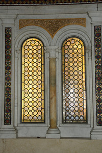 Mosaic art and stained glass windows