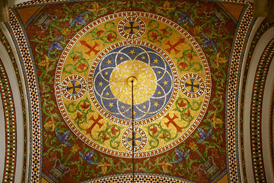 Mosaic art in ceiling