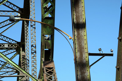 Former light used on bridge with electrical wiring harness