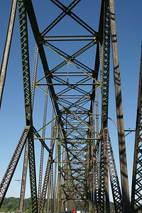 Overhead truss structure of bridge