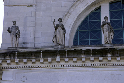 Statues on the Art Museum building