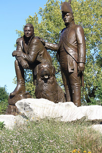 Lewis and Clark Statue in Frontier Park