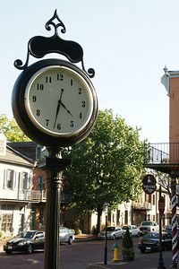 Clock along Main Street