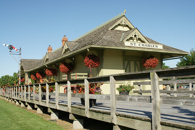Restored St Charles MKT railroad depot