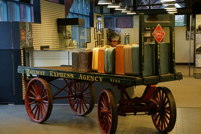 Museum area - railroad baggage cart
