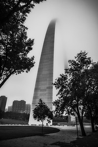 St Louis Arch in Fog