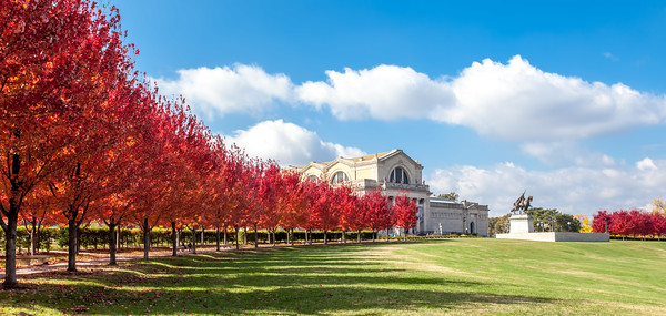 St Louis Art Museum in Fall