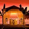 Caribbean      St. Lucia     Anse Chastanet<br /> Beach tented dinner, sunset