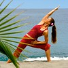 Caribbean      St. Lucia      Anse Chastanet<br /> Yoga at sea edge