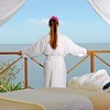 Caribbean      St. Lucia      Anse Chastanet<br /> Kai Mer Spa:  guest gazing to sea, massage table to fore