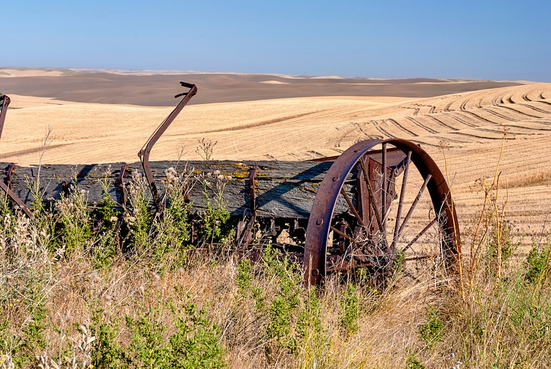 Weathered by time and forgotten in the wheat fields of Washington state
