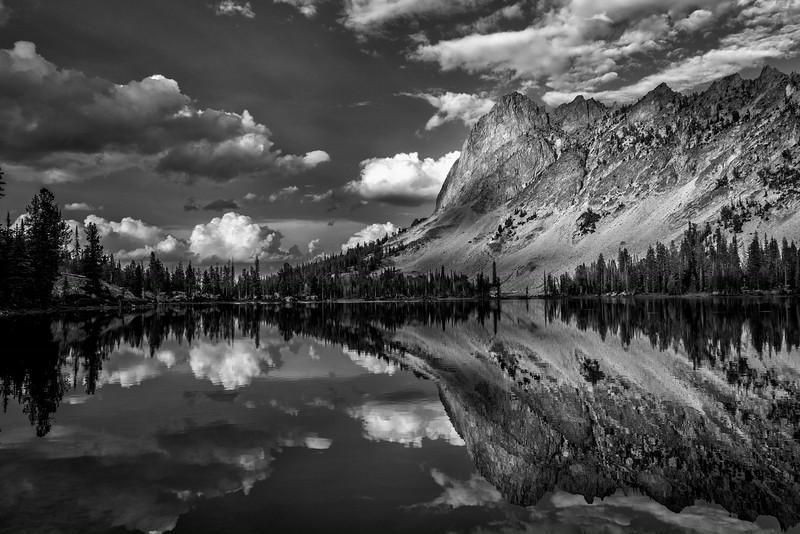 Late afternoon on Alice Lake with a view of El Capitan.