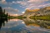 Idaho Mountain Lake and Cloud Reflection