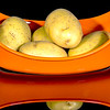 Yellow Potatoes in an Orange Dish