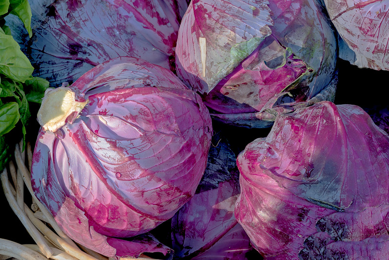 Cabbage at a Market