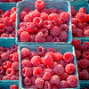 Fresh Red Raspberries for Sale at a Farmers Market