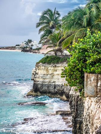 Cliffs overlooking Mullett Bay, Cupcoy, St. Maarten