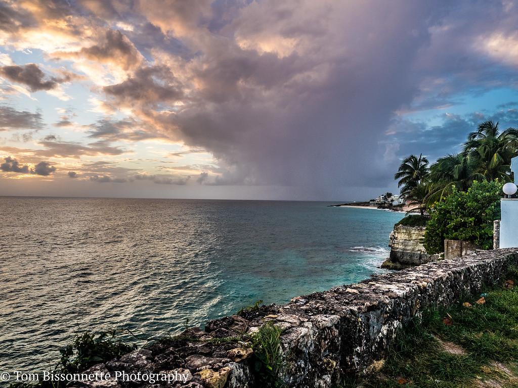 Sunset Mullett Bay, St. Maarten, Netherlands.