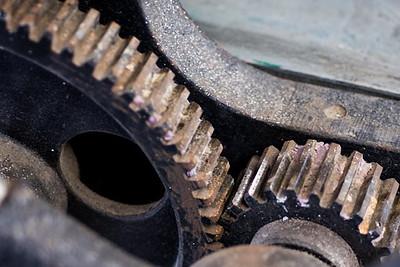 Gears on printing press- Taft Hall
