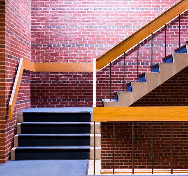 Stairs in library
