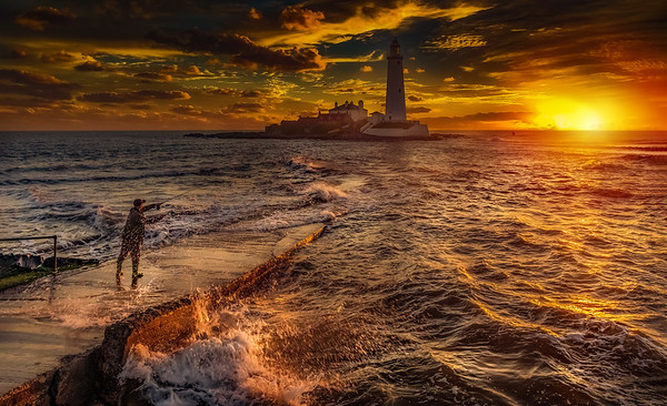 St. Mary's Lighthouse at Sunset