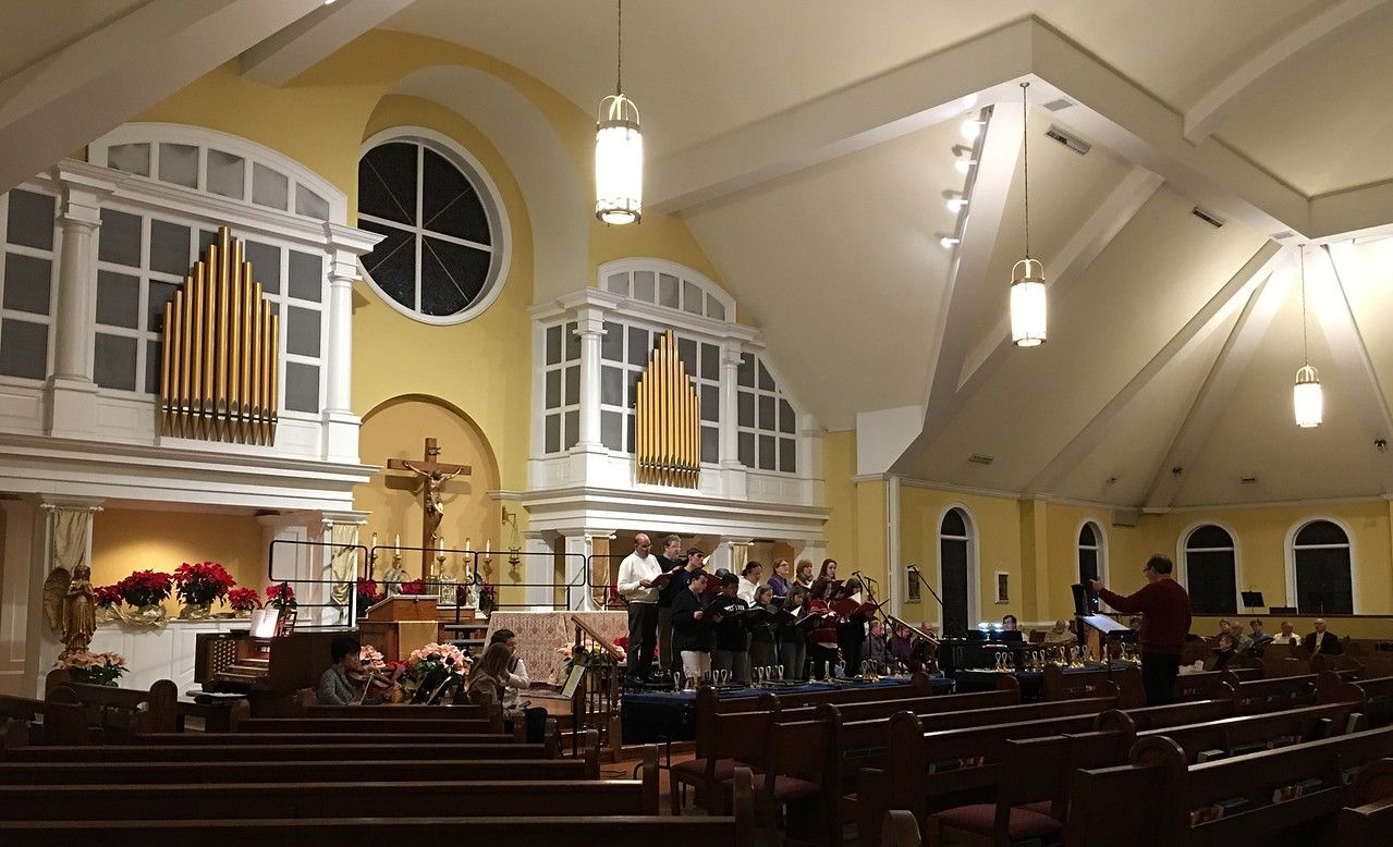 Annual Epiphany Concert rehearsal