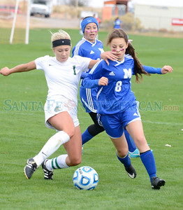 Girls, class 1A/4A New Mexico High School state semi final soccer match between St. Michael's and Hope Christian at the New Mexico Soccer Tournament Complex in Bernalillo Friday, November 4, 2016. Clyde Mueller/The New Mexican