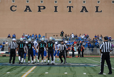 St. Michael's and Capital high schools prep football game play Friday, September 2, 2016 at Capitol High Jaguar Field. Clyde Mueller/The New Mexican