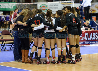 New Mexico State Class 4A semifinal match between St. Michael's and Robertson played Friday, November 11, 2016 at the Santa Ana Star Center, Rio Rancho. Clyde Mueller/The New Mexican