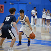 The first quarter of the St. Michael's High School vs Silver High School boys basketball game at St. Mike's on Friday, January 11, 2019. Luis Sánchez Saturno/The New Mexican