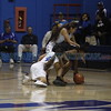St. Mike's Cia Alvarez, number 4, Jocelyn Fernandez, number 13, and Taos' Aaliyah Quintana, number 23, try to recover a loose ball during the second quarter of the St. Michael's High School vs Taos High School girls basketball game at St. Mike's on Monday, February 19, 2018. Luis Sánchez Saturno/The New Mexican