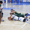 St. Mike's Thomas Wood, number 12, and West Las Vegas' Estevan Gonzales, number 23, scramble for a loose ball during the second quarter of the St. Michael's High School vs West Las Vegas High School at St. Mike's on Wednesday, February 6, 2019. Luis Sánchez Saturno/The New Mexican