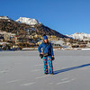 Standing on the lake - with the polo field behind me.